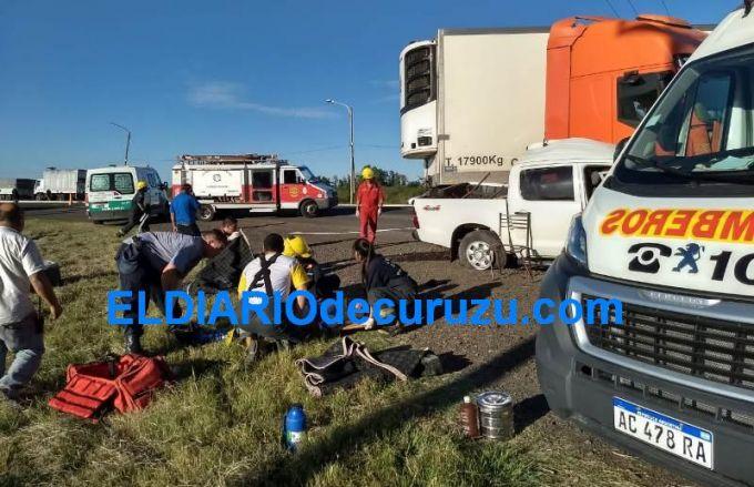 Un muerto y cuatro heridos en tremendo accidente de tránsito