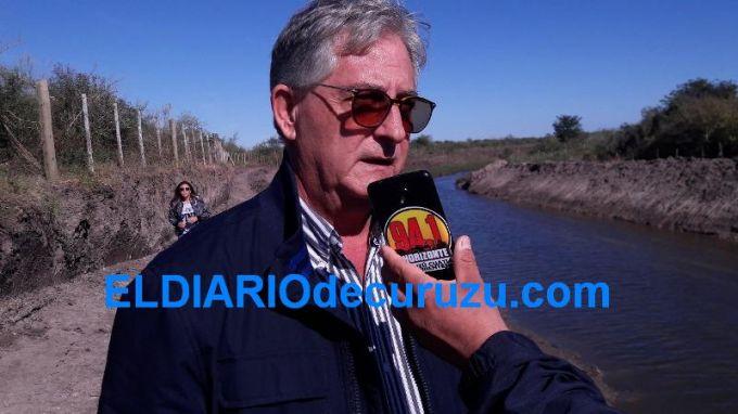 """Rodolfo Santini: """"Estuvimos visitando el comienzo de la obra de saneamiento de los arroyos"""""""