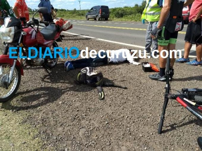Motociclistas terminaron hospitalizados