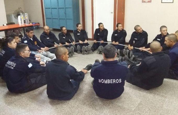 Se realizó un taller de Trabajo en Equipo y de Liderazgo interinstitucional entre Bomberos y Policía de Corrientes