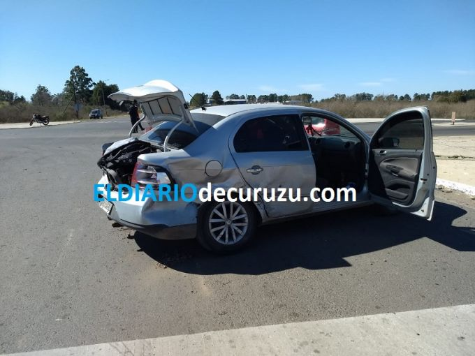 Accidente en el cruce de la rutas 126 y 119