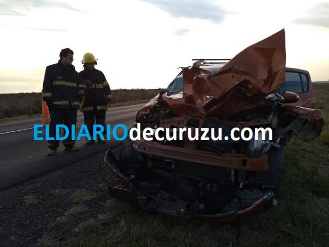 Tremendo accidente en ruta 119, una persona herida