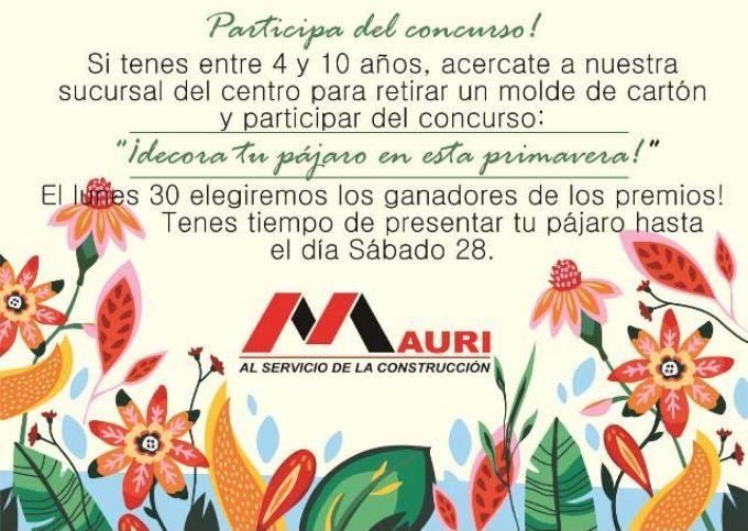 La empresa MAURI recibe a la primavera con un concurso especial