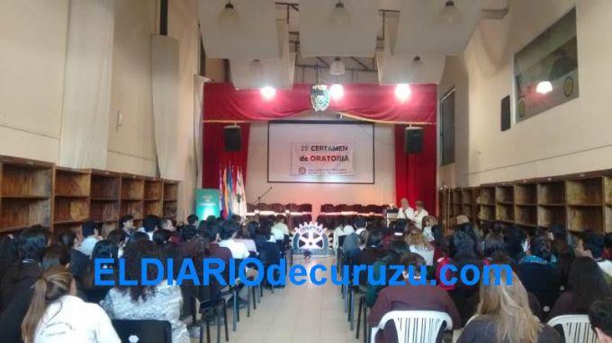 Se realizó el 25º Certamen de Oratoria organizada por la Rueda Femenina del Rotary Club