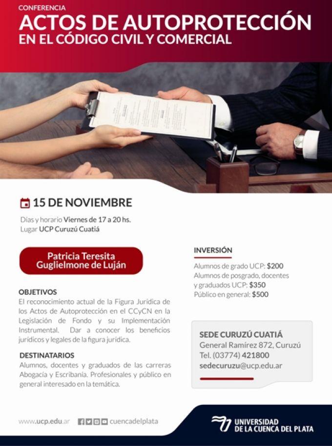 """Conferencia de la Cuenca del Plata sobre """"Actos de Autoprotección"""""""