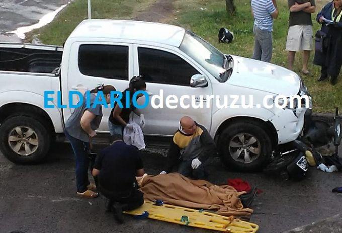 Colisión y caída en una cuneta accidentes ocurridos en las primeras horas de este sábado