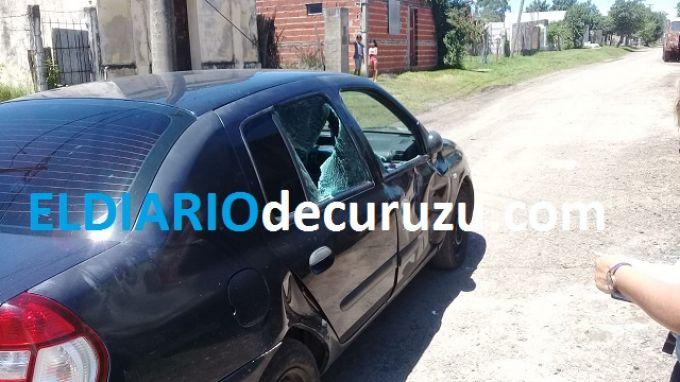 Barrio Yaguá Rincón, motociclista impactó con un automóvil