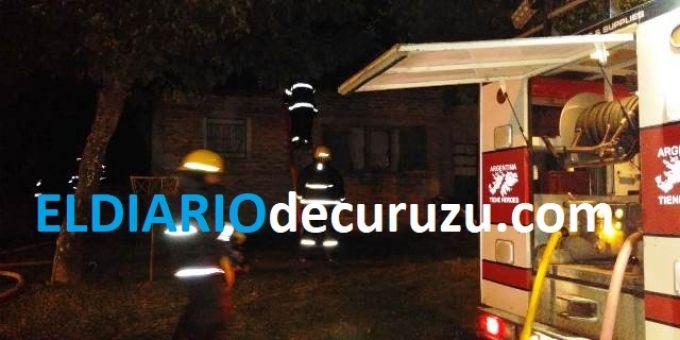 Incendio de vivienda en el barrio Yaguá Rincón
