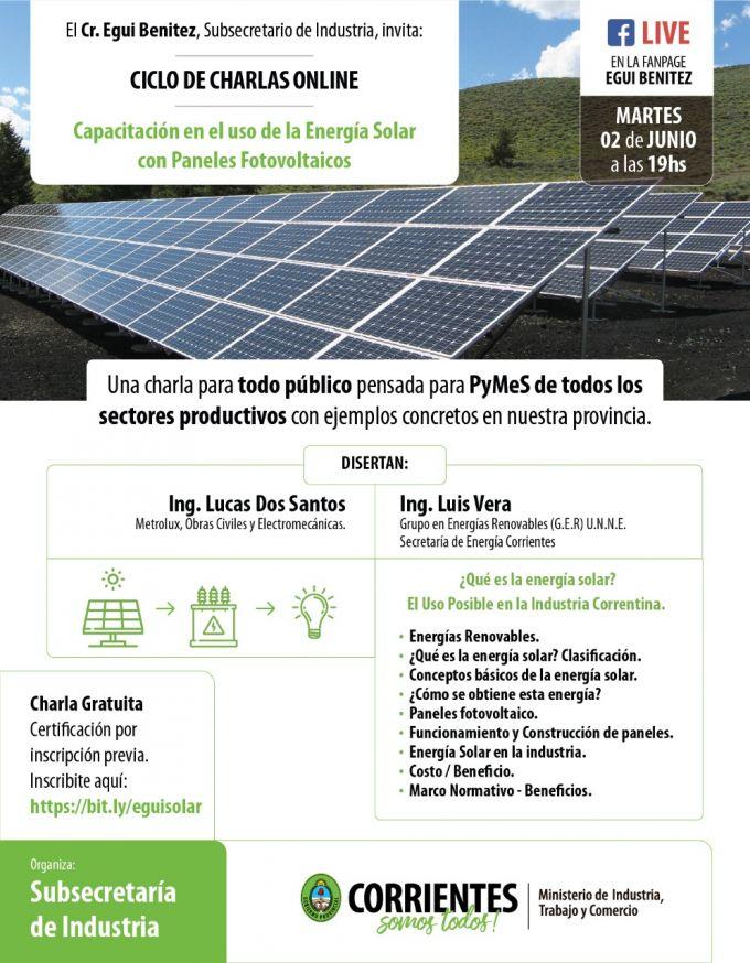 Capacitación en el uso de la Energía Solar con Paneles Fotovoltaicos
