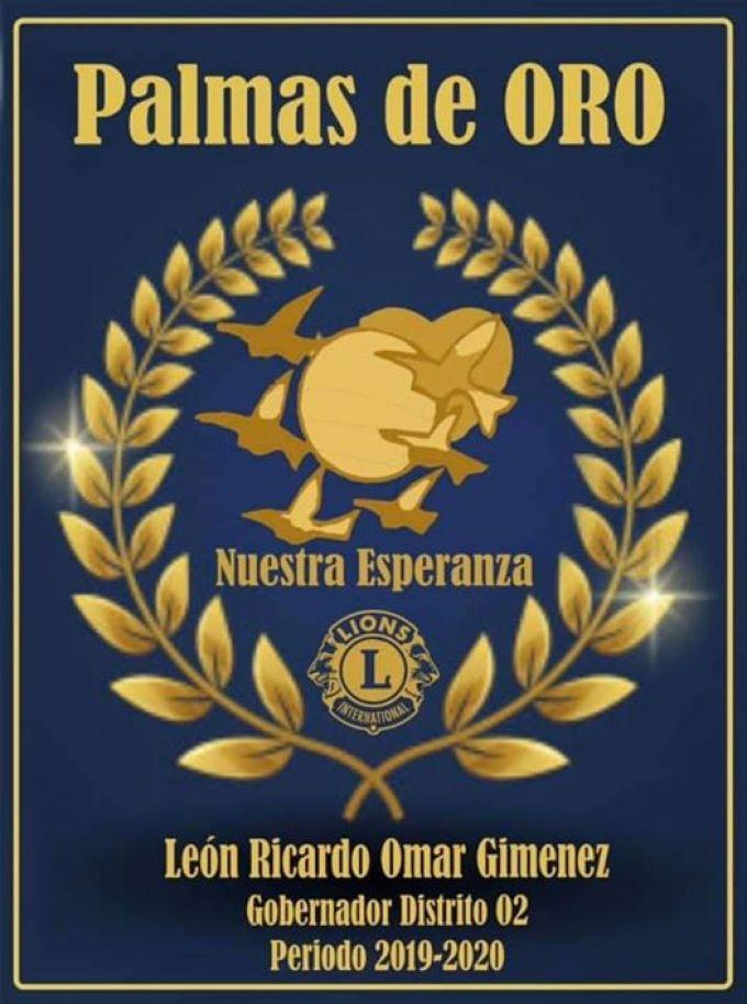 El Club de Leones de Curuzú Cuatiá recibió la distinción de Palma de Oro