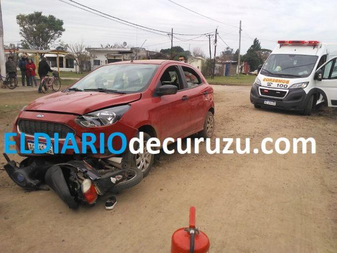 Dos personas heridas en un choque ocurrido en el barrio Centenario