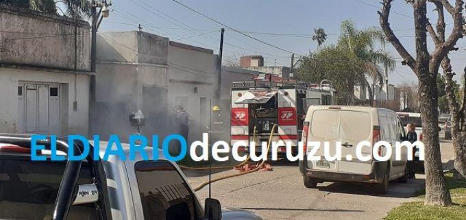 Incendio en zona céntrica dejó daños materiales