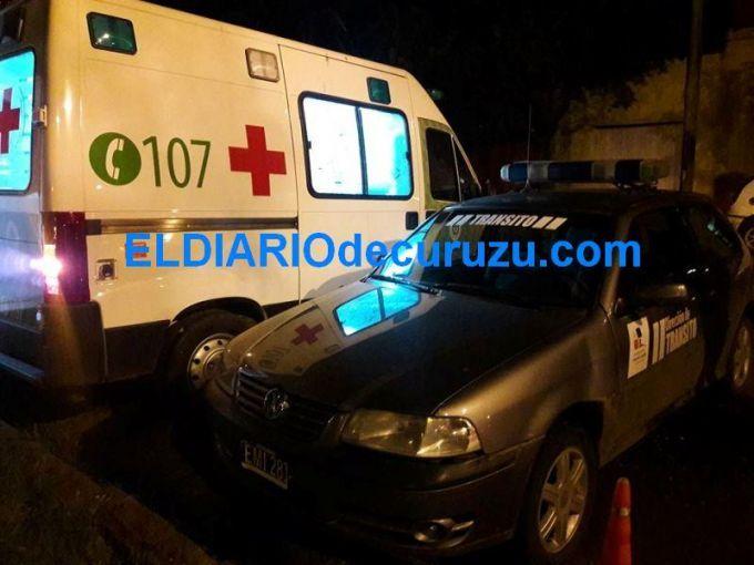 Pudo ser tragedia, un cable de media tensión se soltó sobre una ambulancia
